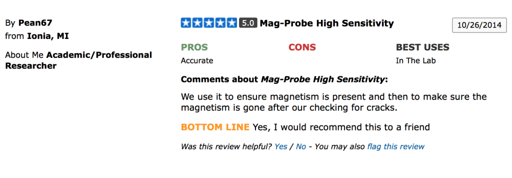 Bartol Mag-Probe Reviews