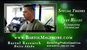 Evan Basabe Using Bartol Mag-Probe